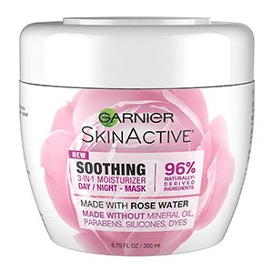 Garnier - SkinActive Soothing 3-In-1 Face Moisturizer With Rose Water