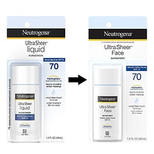 Neutrogena - Ultra Sheer Liquid Sunscreen Broad Spectrum SPF 70