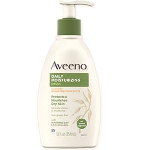 Aveeno Daily Moisturizing Body Lotion with Broad Spectrum SPF 15 Sunscreen
