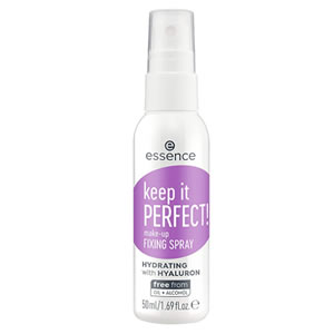 Essence Keep It Perfect! Makeup Fix Spray, Glycerin-Free, Fungal Acne Safe Product