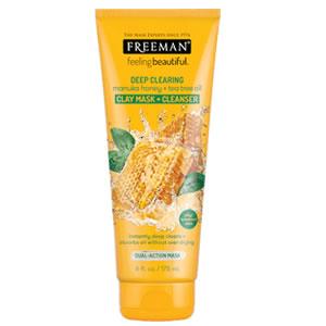 FreemanBeauty - Deep Clearing Manuka Honey+Tea Tree Oil Clay Mask Cleanser