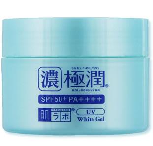 Hada Labo Koi-Gokujyun UV White Gel SPF 50+ PA++++ - Folliculitis Scout Fungal Acne Sunscreen