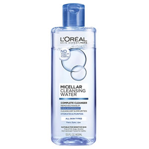L'Oreal Complete Cleanser Waterproof, glycerin-free, fungal acne safe micellar water