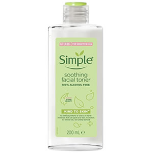 Simple kind to skin Soothing Facial Toner Glycerin-Free + Fungal Acne Safe