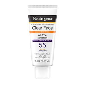 Neutrogena - Clear Face Break-Out Free Liquid Lotion Sunscreen SPF 55